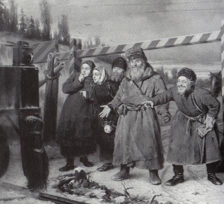 En el ferrocarril Vassili Perov