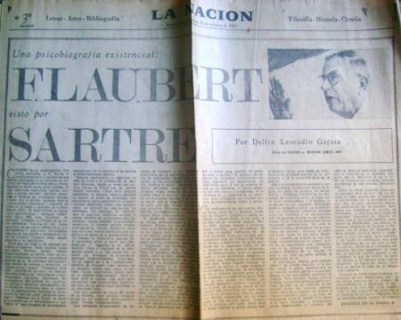 Flaubert Sartre