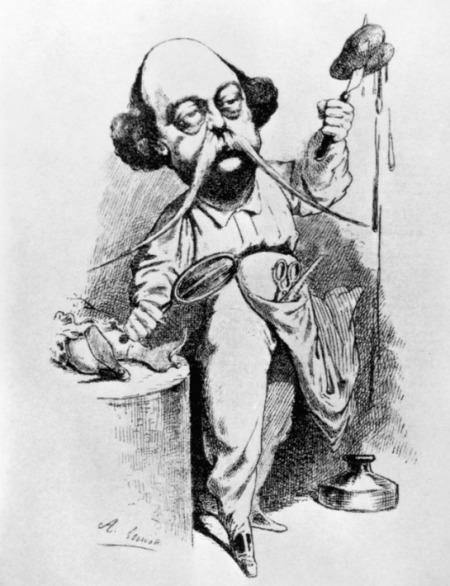 Gustave Flaubert Caricatura