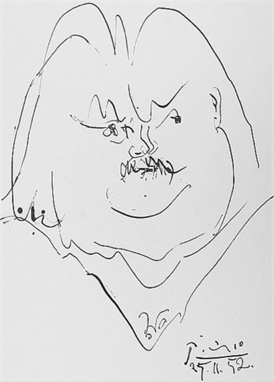 Litografía de Balzac por Picasso
