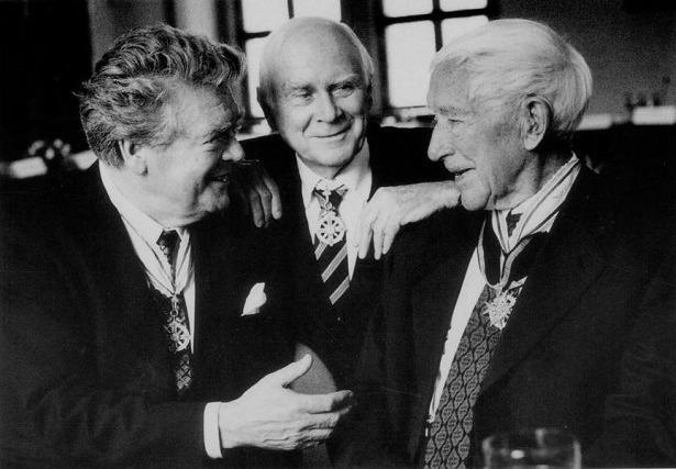 Ernst Junger, Hermann Prey y Vicco von Bülow