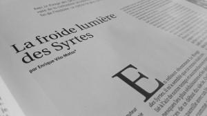 La froide lumiere des Syrtes