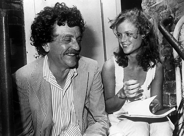 Kurt Vonnegut y su hija Edith