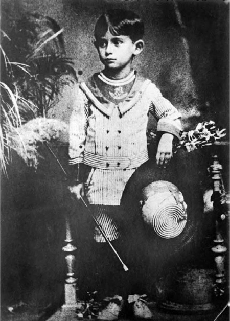 Franz Kafka a los 6 años