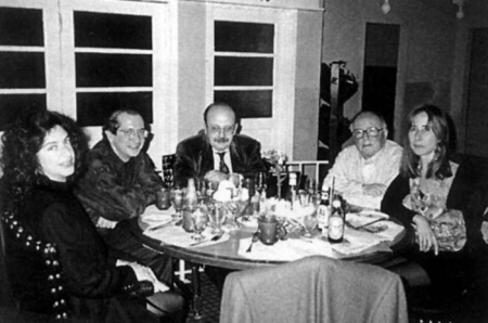 Augusto Monterroso Con Bárbara Jacobs, José María Conget, Manuel Vázquez Montalbán y Maribel de Conget