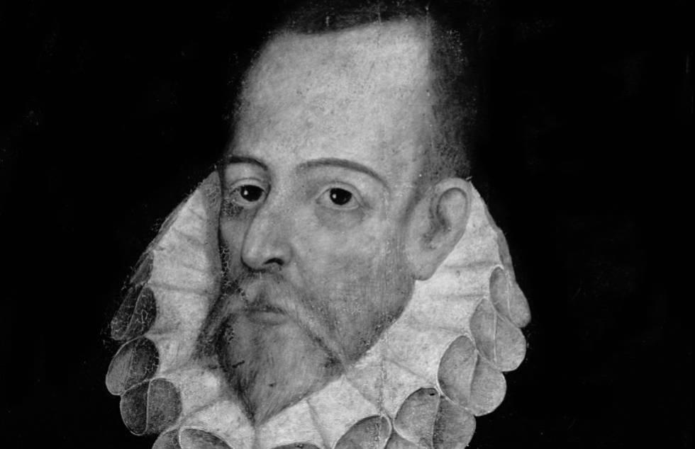 Miguel de Cervantes por Juan de Jáuregui