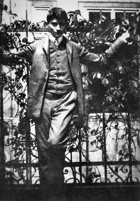 Franz Kafka, adolescente, 1898