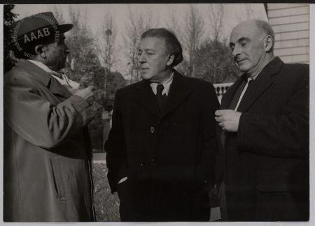 André Breton, Pierre Reverdy y Francis Ponge en 1954